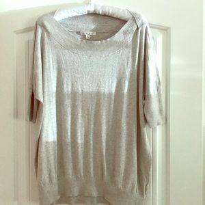 CAbi short-sleeved gray sweater